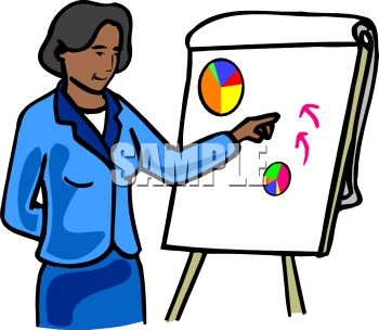 350x304 Royalty Free Clipart Image Black Businesswoman Giving