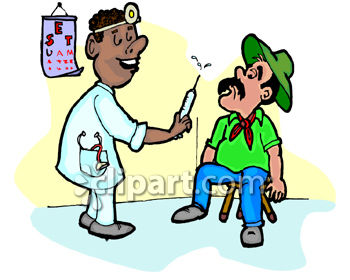 350x280 African American Doctor Giving A Patient A Shot Clip Art
