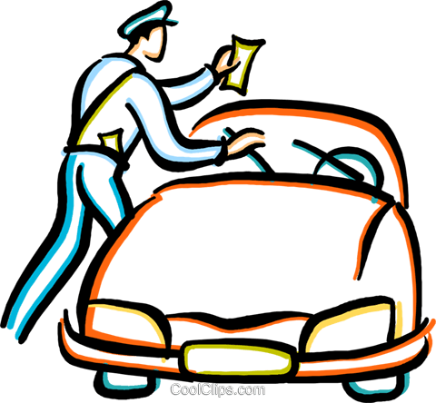 480x444 Police Officer Giving A Parking Ticket Royalty Free Vector Clip