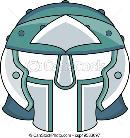 444x470 Roman Gladiator Helmet. Ancient Roman Centurion Soldiers Eps