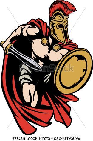 312x470 Spartan Roman Or Trojan Gladiator Ancient Greek Warrior . Eps