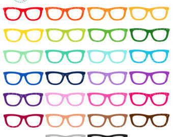 340x270 Glasses Clipart, Hipster, Nerdy Clip Art, Instant Digital Download