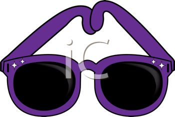 350x234 Picture Of A Pair Of Purple Sunglasses In A Vector Clip Art