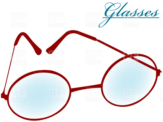 523x392 Round Glasses Royalty Free Vector Clip Art Image