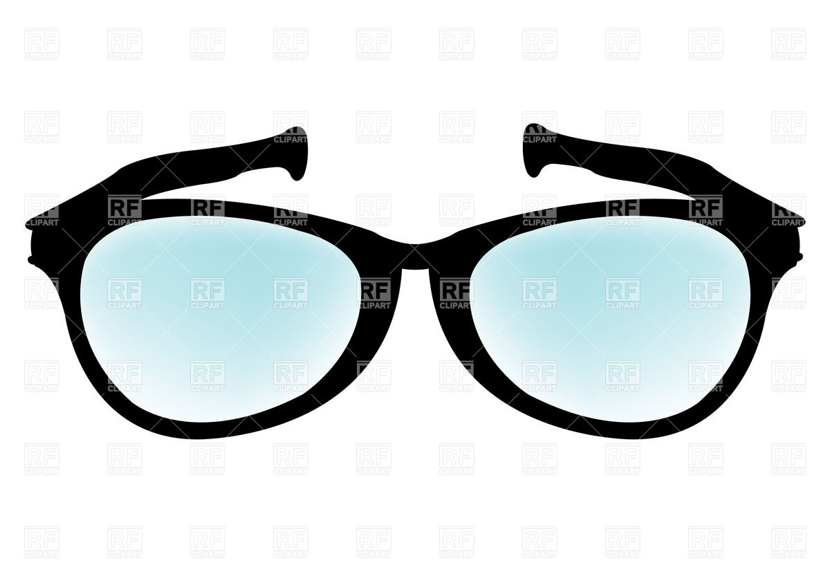 1200x814 Simple Spectacles Royalty Free Vector Clip Art Image