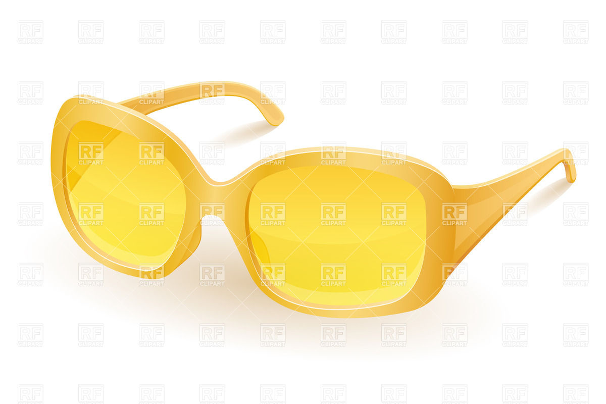 1200x800 Yellow Women Sunglasses Royalty Free Vector Clip Art Image