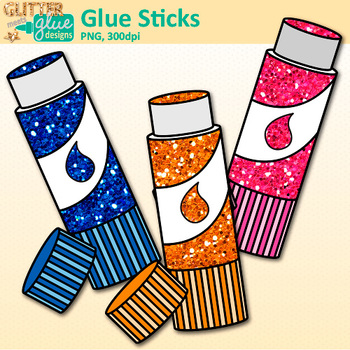 350x350 Glue Stick Clip Art Rainbow Glitter Back To School Supplies