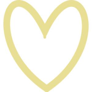 300x300 Gold Heart Clipart