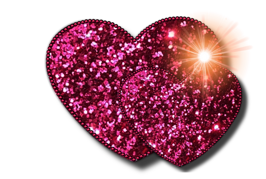 894x602 Heart Glitter Clip Art