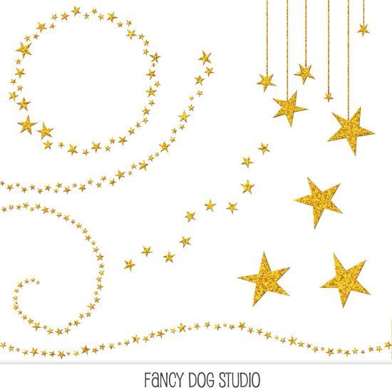 550x550 Sparkling Glitter Star Clip Art Young Women'S
