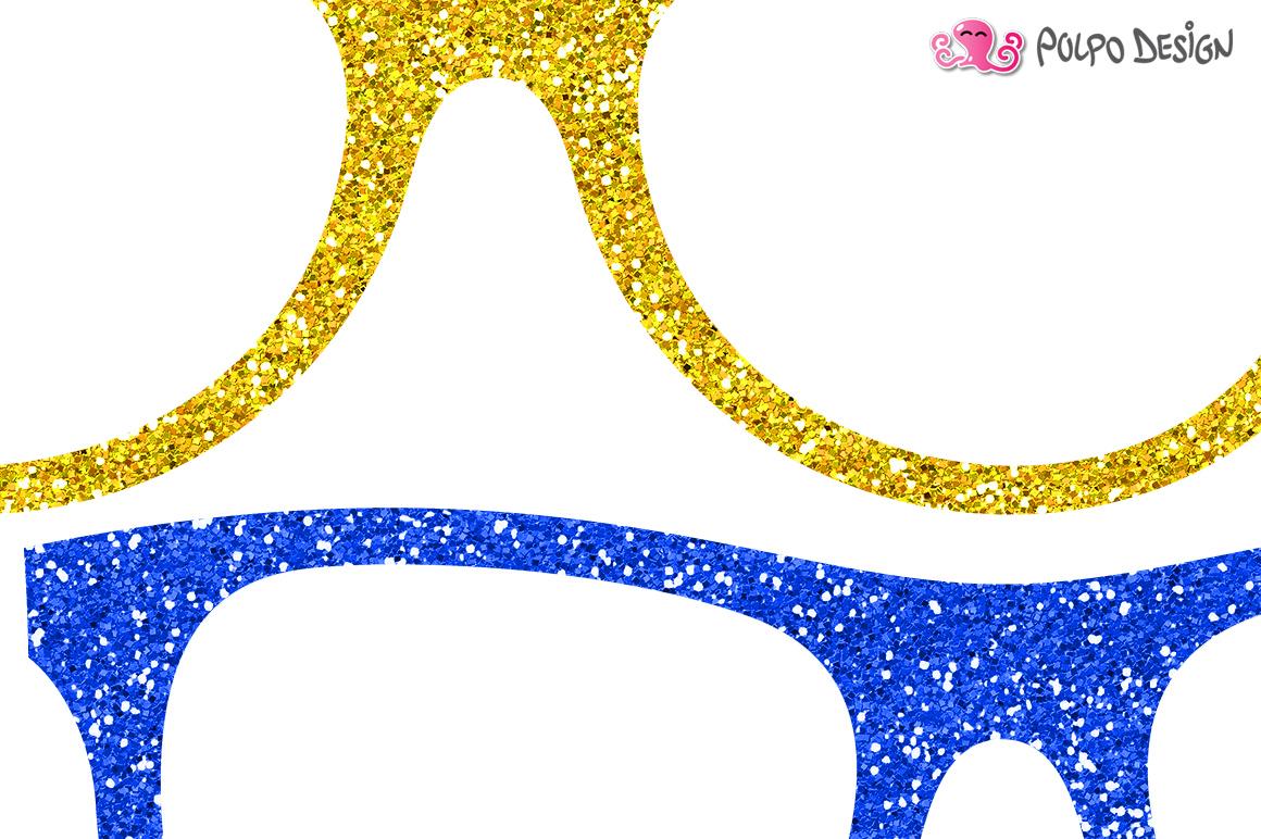 1160x772 Colorful Glitter Glasses Clip Art By Po Design Bundles