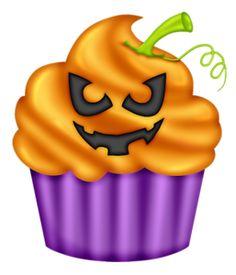 236x275 Hallowen Spooky Cupcake With Orange Icing. Eps 8 Cmyk With Global