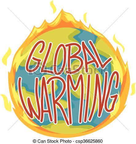 443x470 Vector Illustration Of Global Warming Concept Clip Art Vector