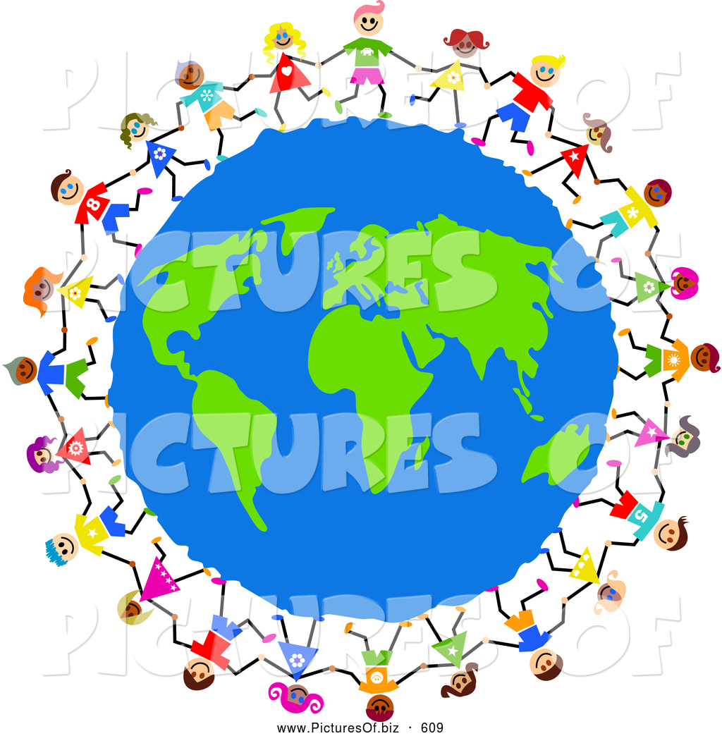 1024x1044 Clipart Of A Global Kids Circling Earth Together By Prawny