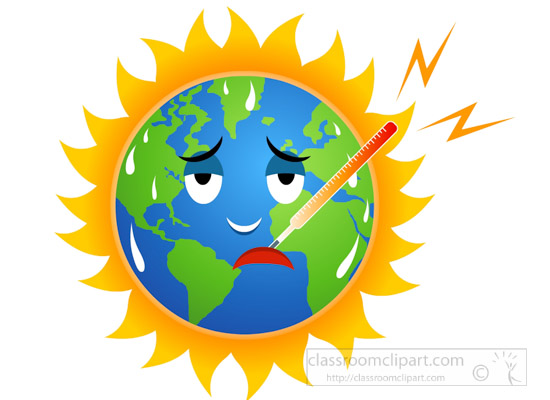 550x400 Environment Clipart Global Warming Earth Character Measuring