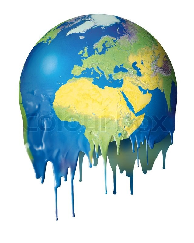 638x800 Global Warming Concept Planet Melting Stock Photo Colourbox