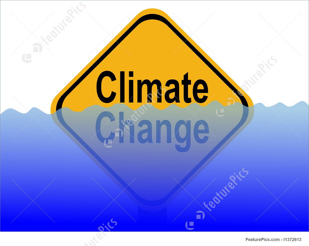 1300x1035 Illustration Of Climate Change Sign