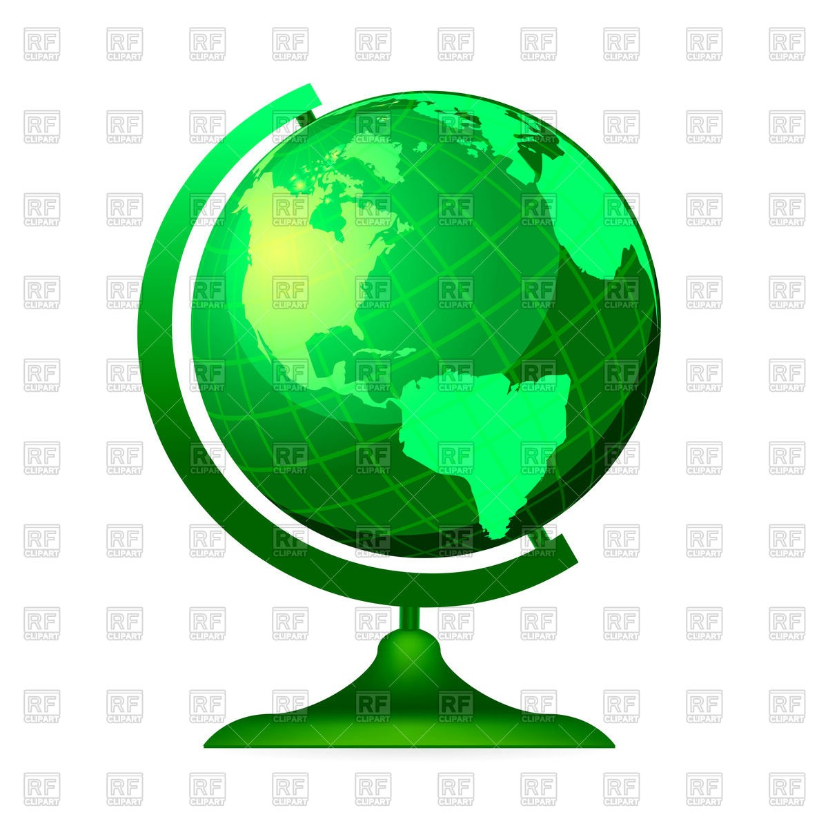 1200x1200 Green Globe Royalty Free Vector Clip Art Image 73370 Rfclipart