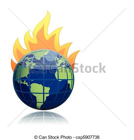 450x470 Burning Globe Illustration Design Icon Vector