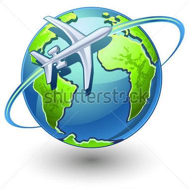 380x380 Plane Circling Globe Clipart Amp Plane Circling Globe Clip Art