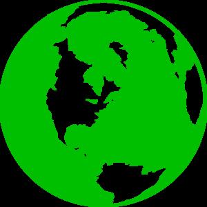 300x300 Dark Green Globe Clip Art