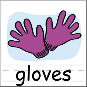 304x304 Clip Art Basic Words Gloves Color Labeled I Abcteach