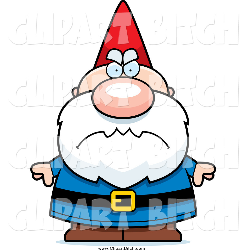 1024x1044 Clip Vector Cartoon Art Of A Mad Short Gnome By Cory Thoman