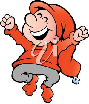 298x350 Clipart Illustration Of A Happy Gnome