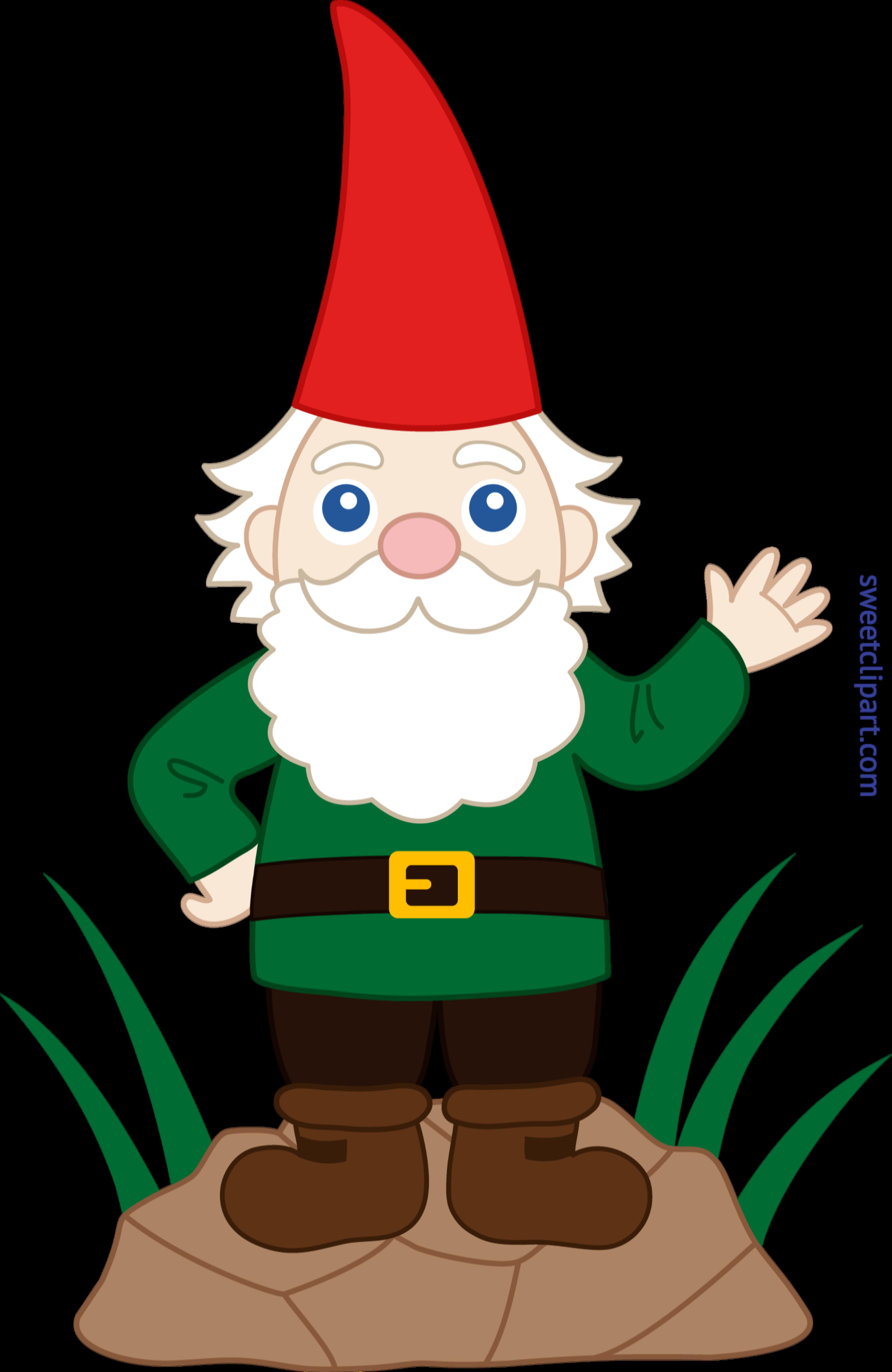 5377x8270 Garden Gnome Clip Art