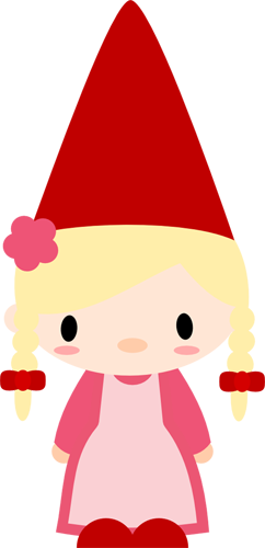 242x500 Girl Gnome Clipart Collection