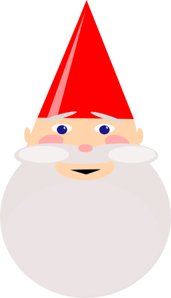 342x596 Gnome With Red Hat Clip Art