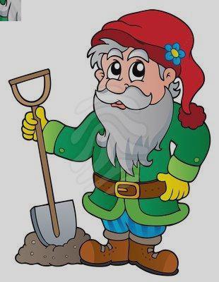 310x400 Cartoon Gnome Clipart
