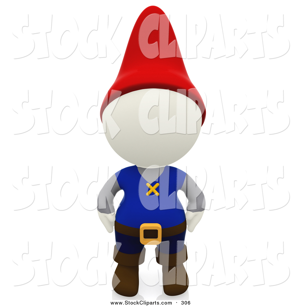 1024x1044 Clip Art Of A 3d White Person Gnome By Andresr