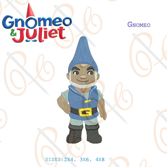 570x570 Gnomeo Amp Juliet Gnomeo Machine Embroidery Design Sherlock