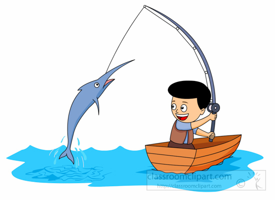 550x400 Go Fishing Clipart