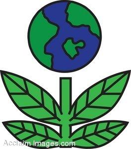 264x300 Clip Art Picture Of A Go Green Earth Icon