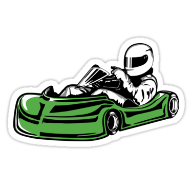 375x360 Green Go Kart Sticker Stickers By Npolanddesigns Redbubble