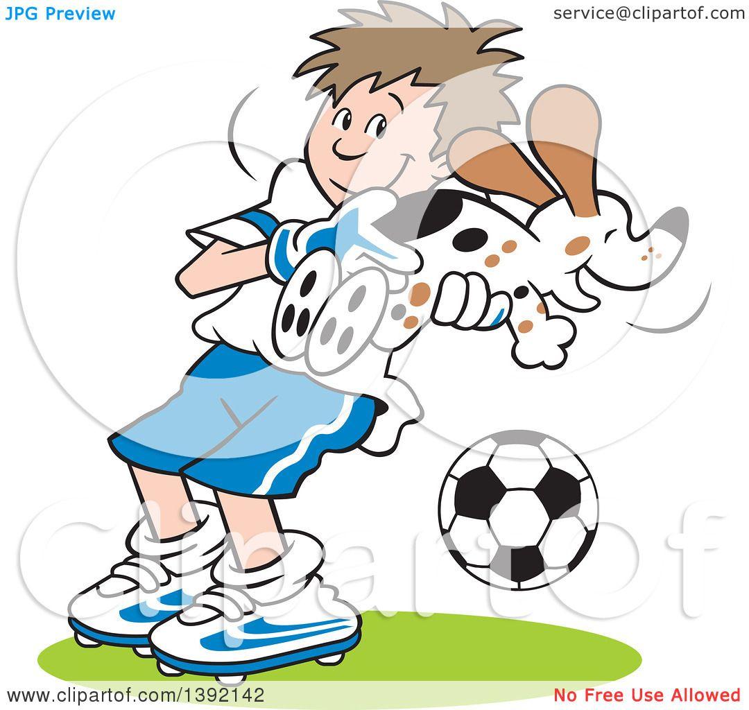 1080x1024 Clipart Of A Cartoon Soccer Player Goalie Boy Catching A Dog
