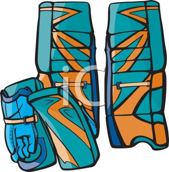344x350 Goalie Gloves And Shin Guards
