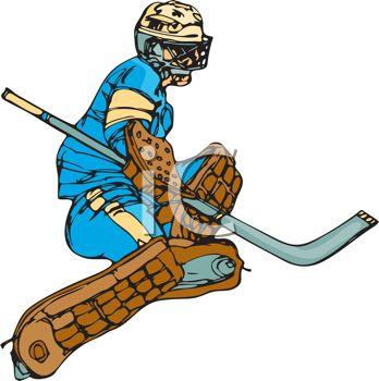 348x350 Hockey Goalie During A Play
