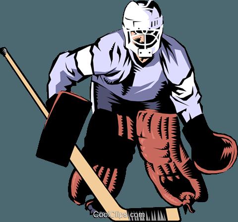 480x447 Hockey Goalie Royalty Free Vector Clip Art Illustration Peop0988