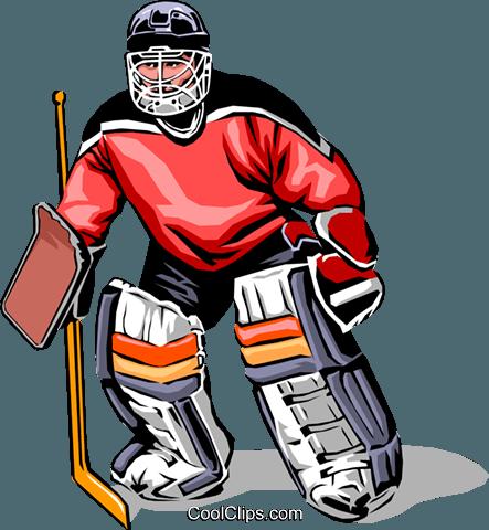 443x480 Hockey Goalie Royalty Free Vector Clip Art Illustration Peop0028
