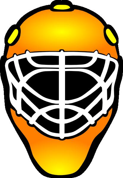 414x599 Orange Hockey Goalie Mask Clip Art