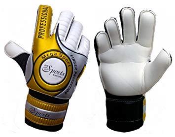 355x278 Golden Weapon Goalkeeper Gloves With Fingerprotection Amp Bag, Gold