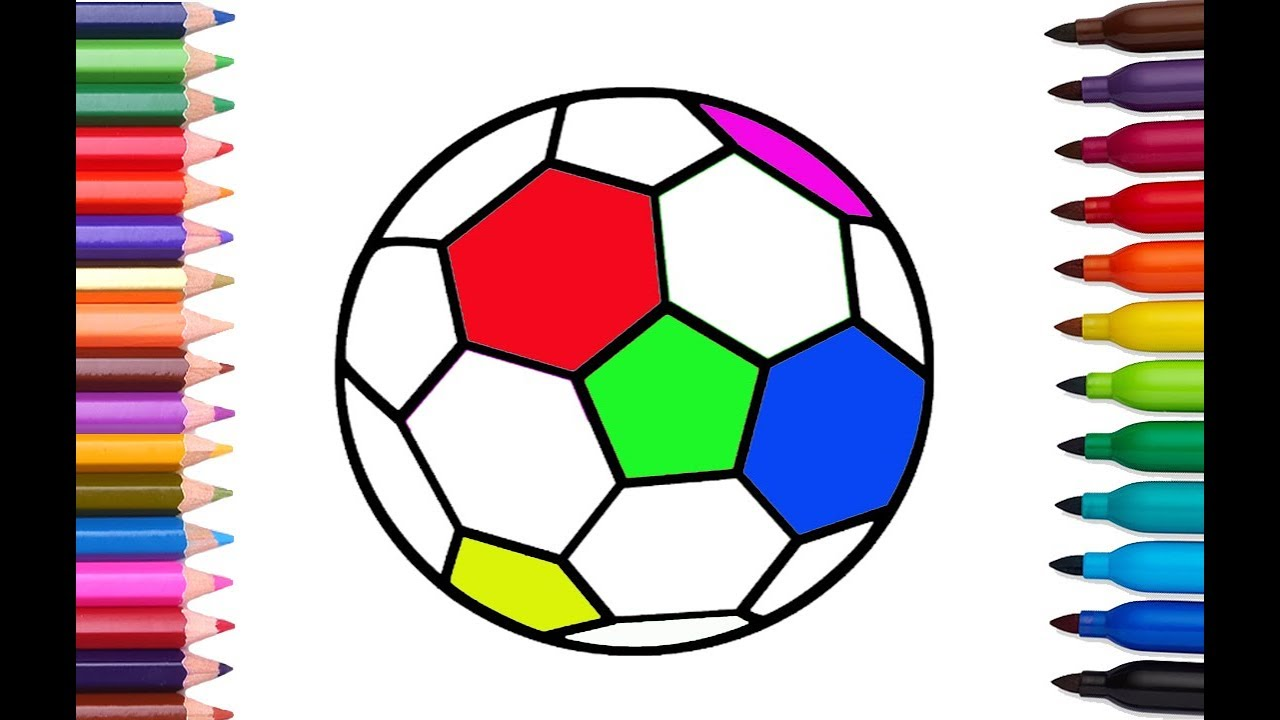 1280x720 How To Draw And Color Soccer Ball Sports Coloring Pages For Kids