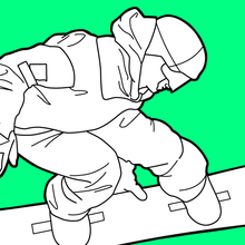 220x220 Winter Sport Coloring Pages