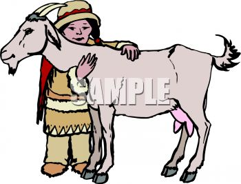 350x267 Ethnic Child With A Pet Goat