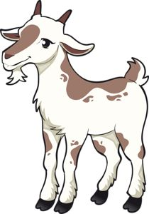 210x300 Goat Cartoon Running Royalty Free Cliparts, Vectors, And Stock