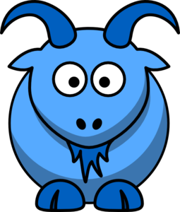 255x300 Blue Goat Png, Svg Clip Art For Web