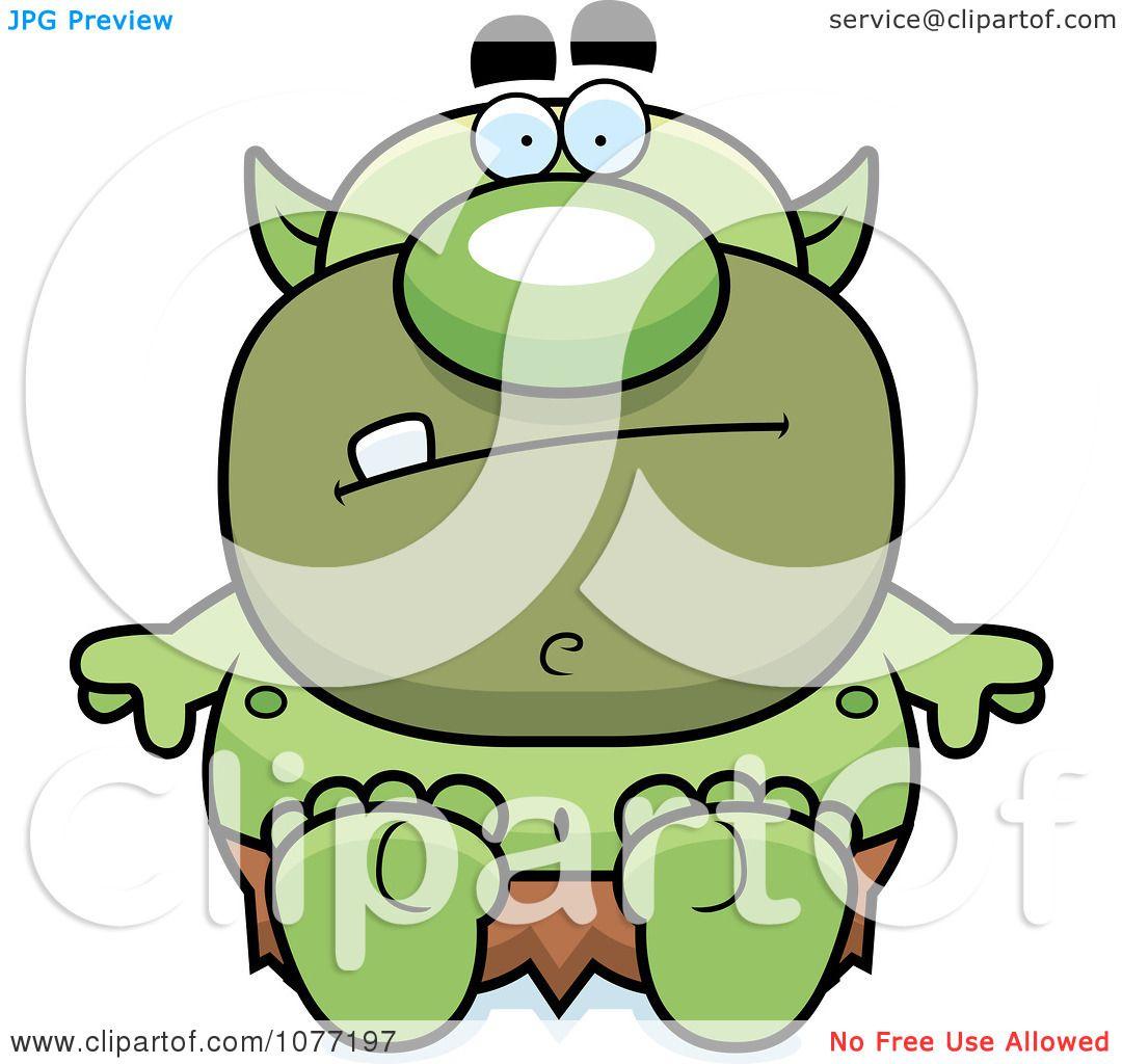 1080x1024 Clipart Sitting Goblin